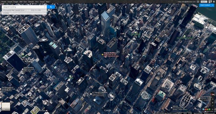 Visión 3D de la ciudad de Nueva York