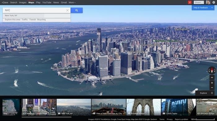 Google Maps vista aérea