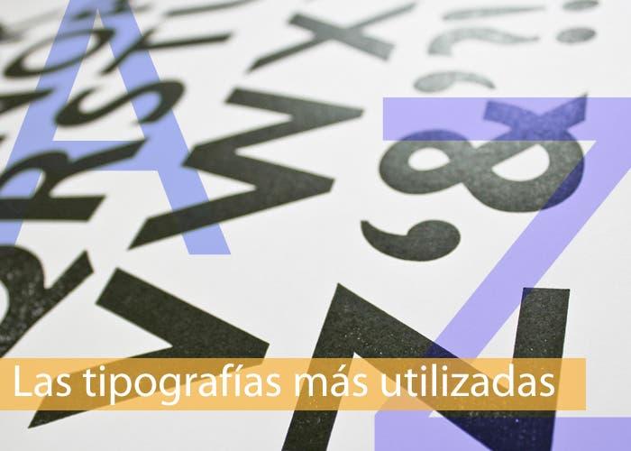 Carátula especial tipografías más utilizadas 8