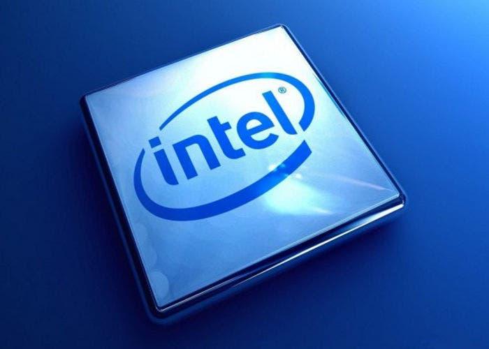 Logo de Intel en un procesador