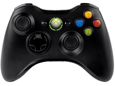 Imagen del mando de Xbox 360 en negro mate