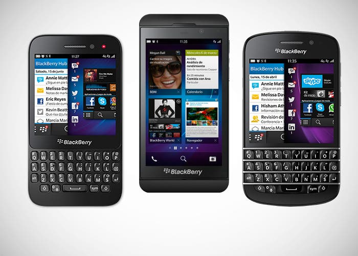 Los tres terminales con BlackBerry 10