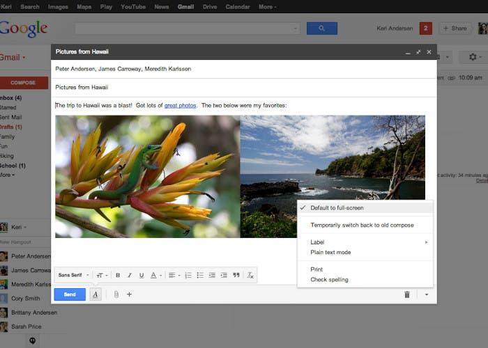 Nueva interfaz de Gmail