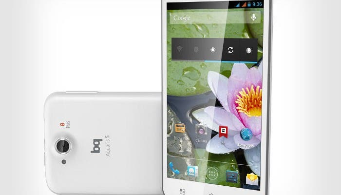 Imagen del smartphone bq Aquaris 5