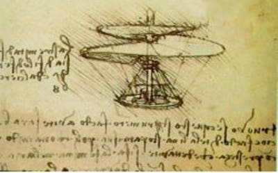 Imagen del helicóptero pensado por el inventor italiano