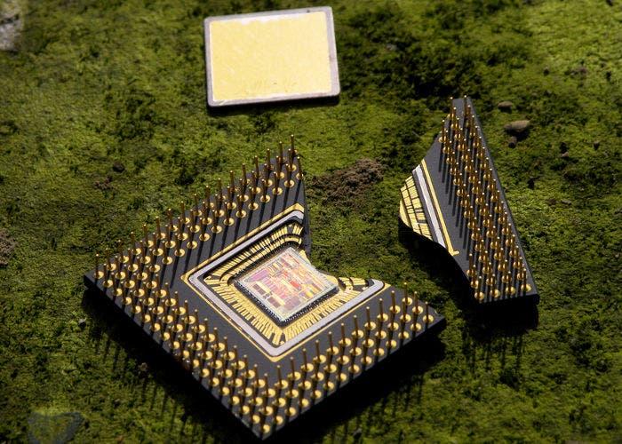 Imagen de un procesador roto