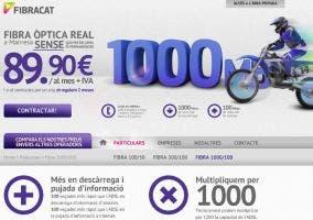 Págian web de Fibracat