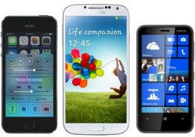 iPhone contra Android contra Windows Phone
