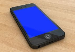 Pantalla azul de la muerte en un iPhone 5s