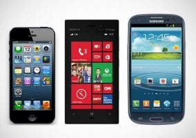 Nokia¡ Lumia 928, iPhone 5 y Samsung Galaxy Galaxy S3