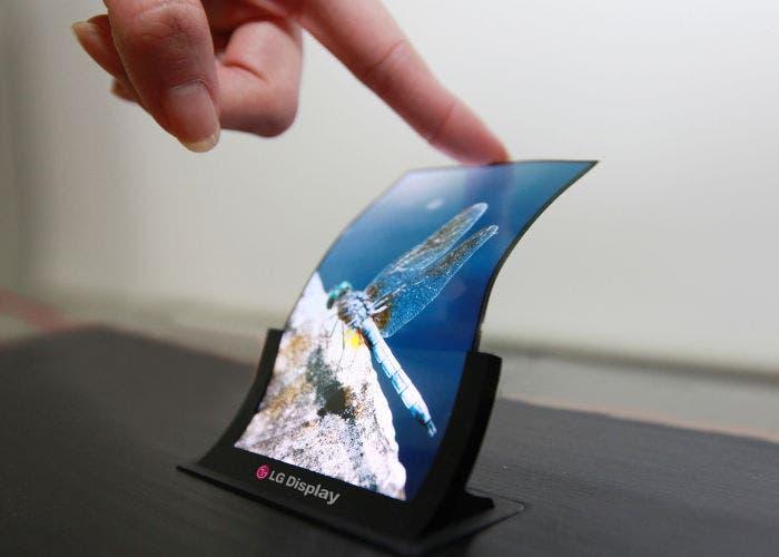 Prototipo de pantalla curvada de LG