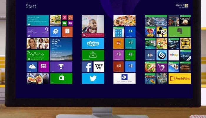 Un ordenador usando Windows 8.1