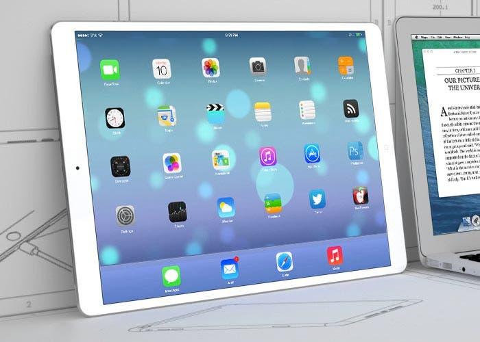Recreación de un iPad de 13 pulgadas