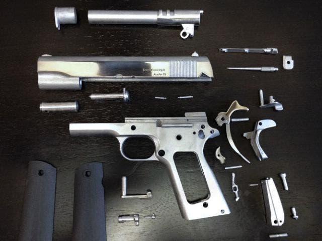 La primera pistola impresa en 3D con metal es capaz de disparar cincuenta tiros