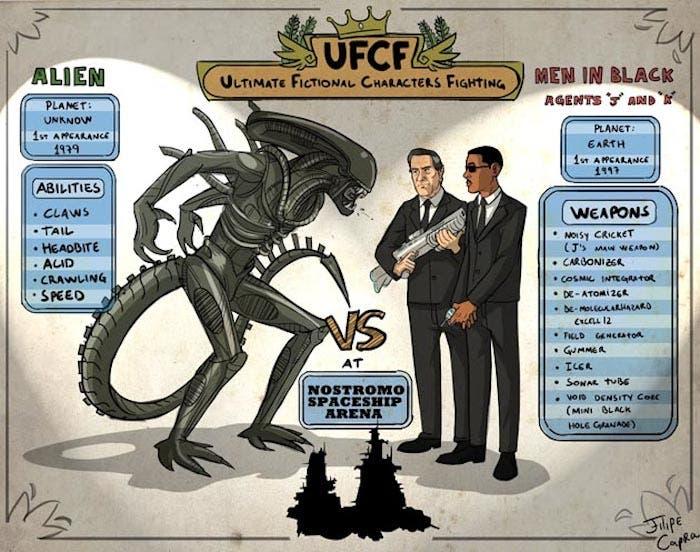 Alien vs Men in Black