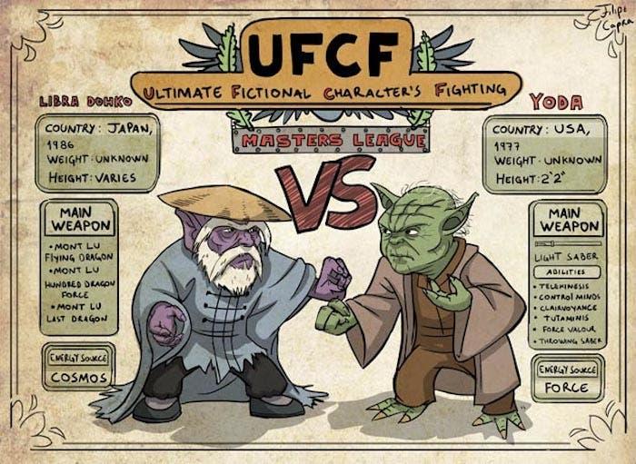 Libra Dohko vs Yoda