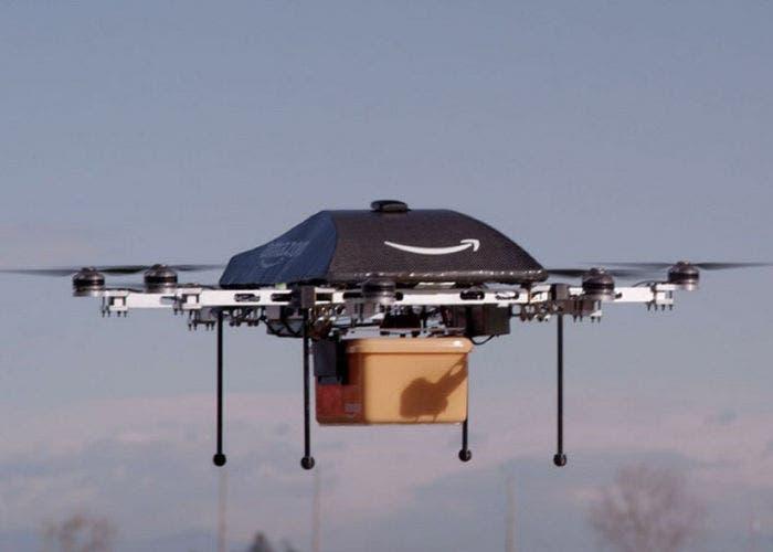 Imagen de un drone de Amazon Prime Air