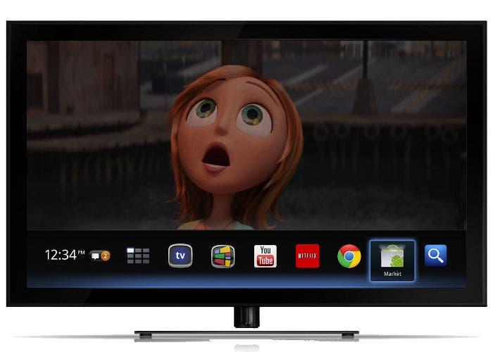 Imagen de la interfaz de Google TV