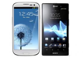 Smartphones de Sony y Samsung
