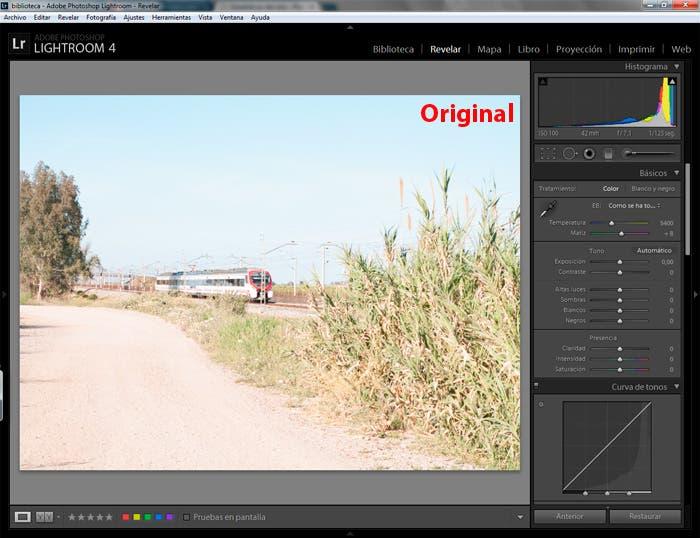 Captura de pantalla de la imagen original a editar