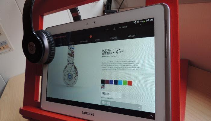 Beats en uso con una Galaxy Tab 2