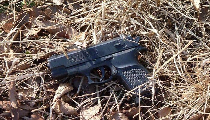 Fotografía de una pistola