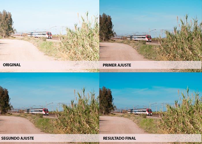 Imágenes del proceso paso a paso de los ajustes