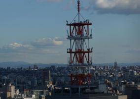 Antena en una ciudad