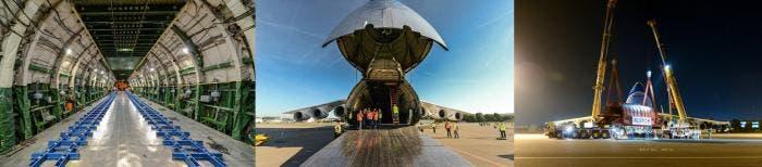 Entrada de carga del Antonov