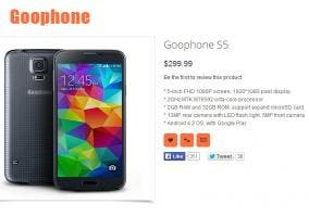 Imagen del Goophone S5, un clos del Samsung Galaxy S5