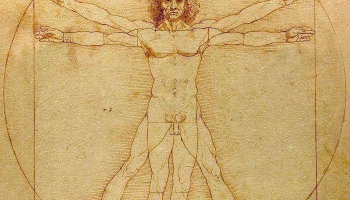 Hombre de Vitruvio de Leonardo de Vinci