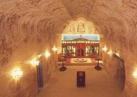 Iglesia hecha por los serbios en Coober Pedy