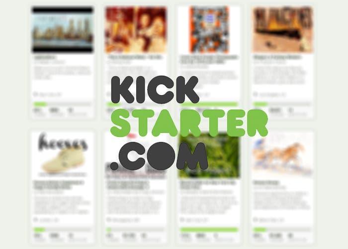 Logo y web de Kickstarter