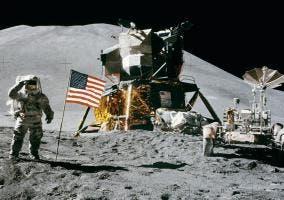 Retrato de la misión Apolo XV en la Luna