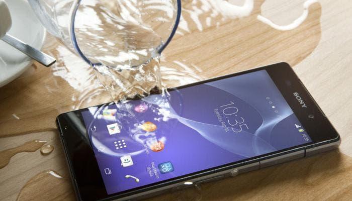 Sony Xperia Z2 mojado por agua