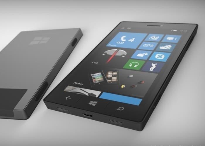 Recreación de un posible teléfono Windows Phone
