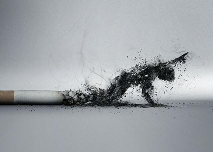 Cigarrillo y humo