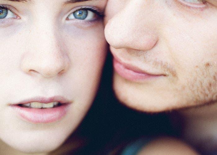 Caras de una pareja en primer plano