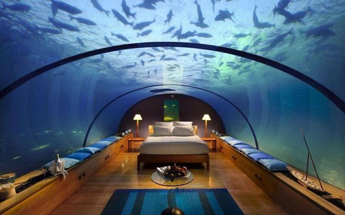 Habitación con acuario
