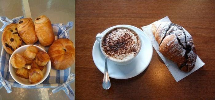 Típico desayuno francés