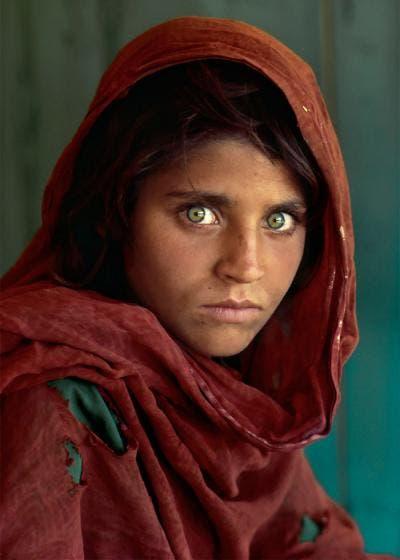 Fotografía de niña afgana de Steve McCurry