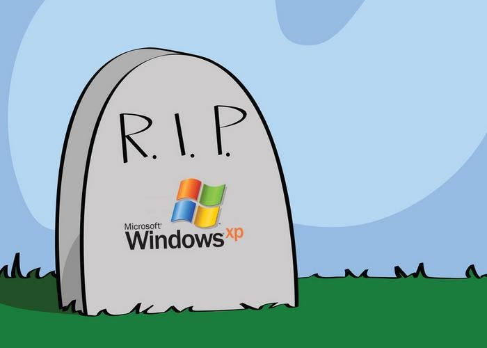 Windows XP muere