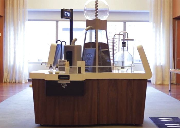 Máquina de café social