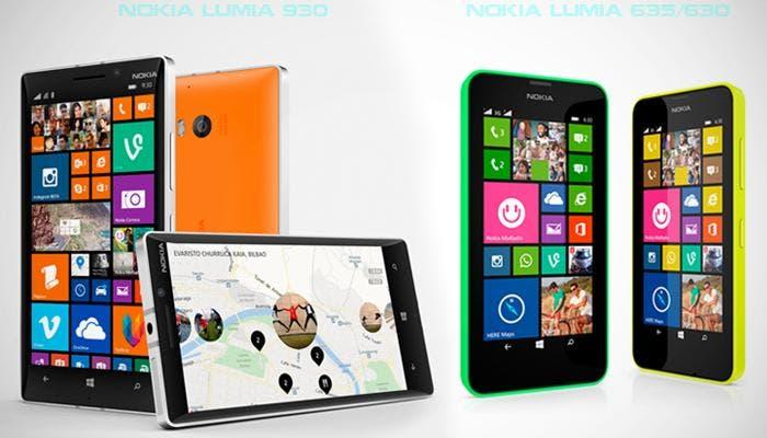 Nokia Lumia 930, 630 y 635