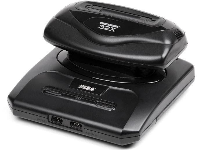 Videoconsola Sega Mega Drive con el accesorio 32X