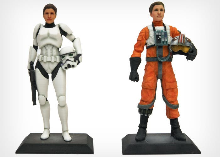 Figuras 3D de La Guerra de las Galaxias