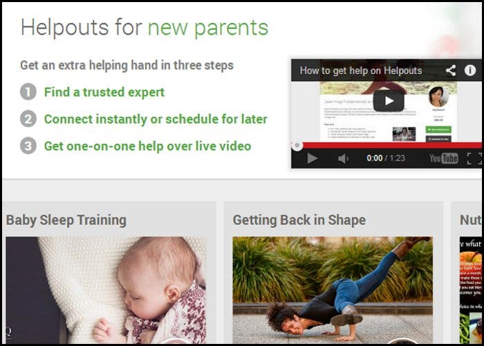 Helpouts para padres