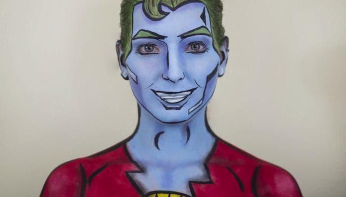 Capitán Planeta real gracias al maquillaje