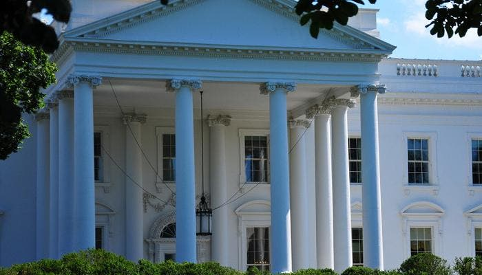 Entrada de la Casa Blanca