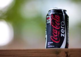 Una lata de Coca Cola Zero